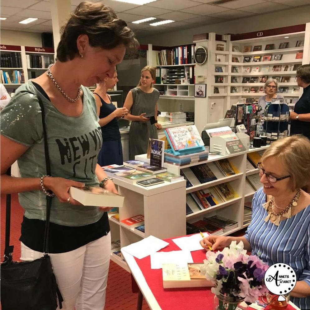 Een leuke ontmoeting met Lynn Austin in Woerden