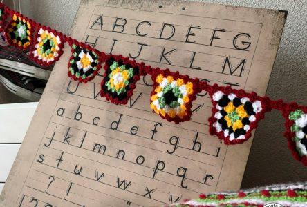 Een gehaakte herfstslinger van granny squares (haakblog 35)