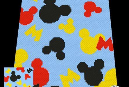 Een gehaakte c2c muizenhoofdjes deken (haakblog 107)